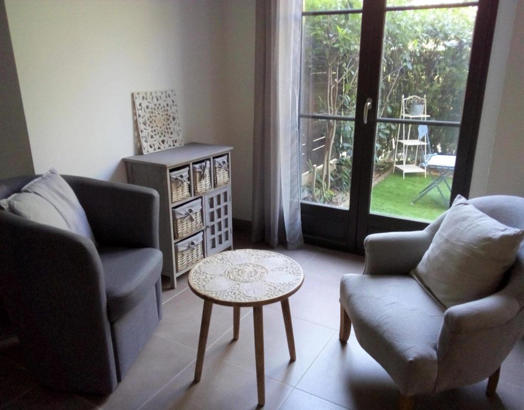 Cabinet de psychologie à Aix-en-Provence, espace de consultation individuelle.