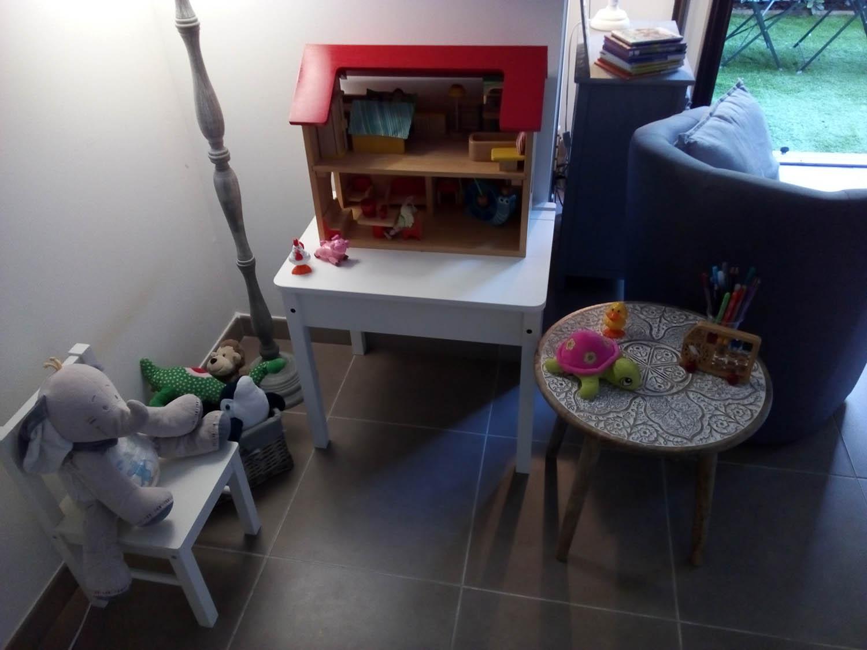 Cabinet de psychologie à Aix-en-Provence, espaces intérieur de consultation pour les enfants